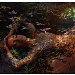 unsplash beautiful sad darkart sleeping beautifuldress lights highlights fish freetoedit srcpapercranes papercranes