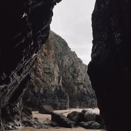 freetoedit cave beach interesting art photography