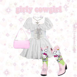 girly cowgirl hellokittysanrio freetoedit