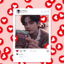 heart kimtaehyung bts v army freetoedit