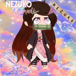nezuko anime gachaclub freetoedit