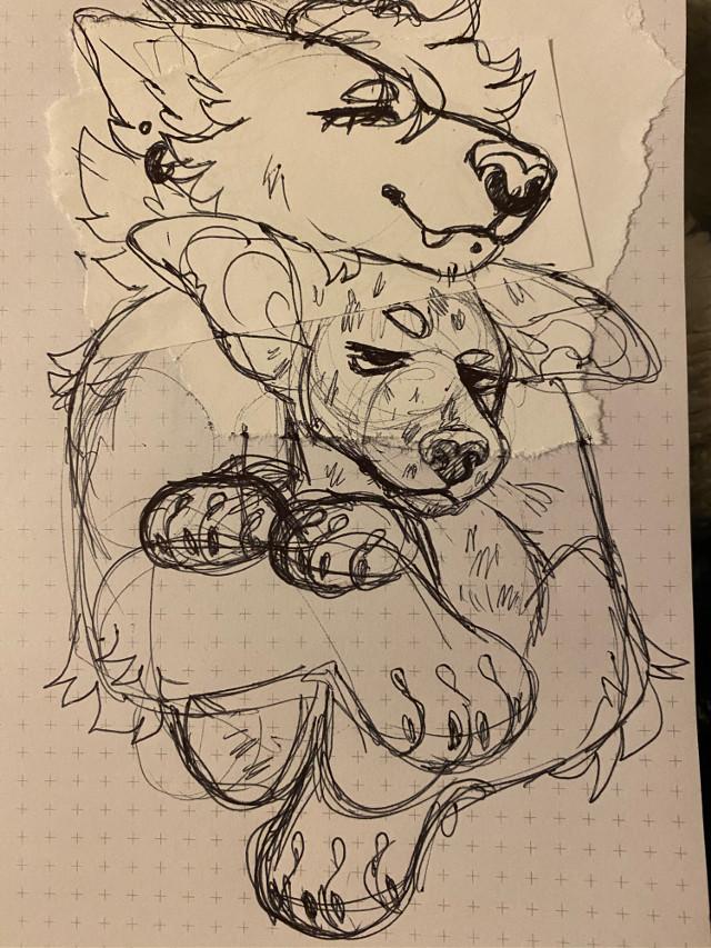 i designed a furry version of wade (deadpool) so i could draw him with my fursona :] #deadpool #furry #furryart #fursona #furryoc