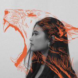 picsart lion lines lineart blackandwhite freetoedit