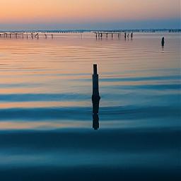 sea sunset riflesso mypic freetoedit pctheblueisee theblueisee