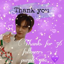 purple thankyou 56followers freetoedit