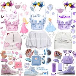 disney outfit inspo disneyland disneyworld cute blue pink purple friends matching converse clothes pretty niche aesthetic freetoedit