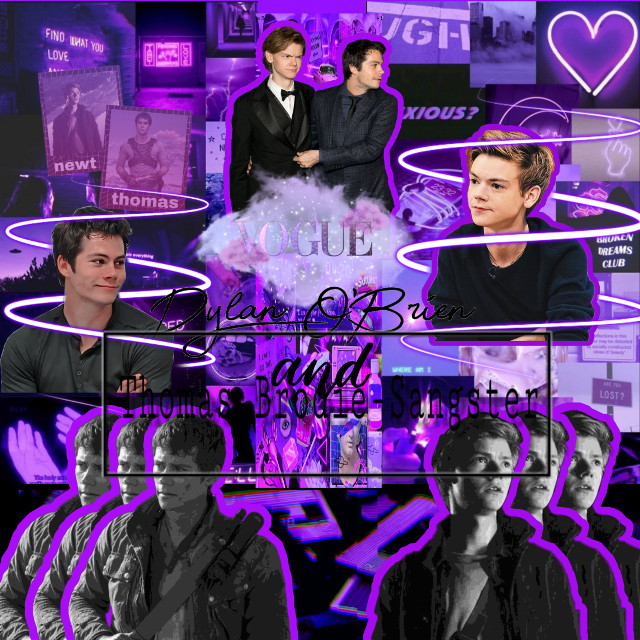 💜👾Thomas Sangster and Dylan O'Brien👾💜  #purple #thomasbrodiesangster #dylanobrien