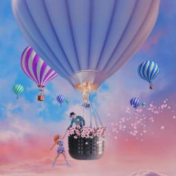 love manandwoman couple airballoon freetoedit irclightbulb lightbulb