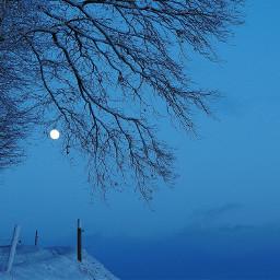blueskyinwinter bluecolor moon wayintheheaven nature naturephotography