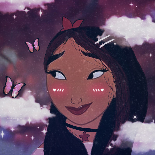 #myedit 💗 #cute #disney #aesthetic #sweet #mulan #princess #iphone #art #draw #drawing #edit #picsart #heypicsart #pink #red #white #replay #butterfly #glitter #sparkle