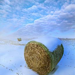 freetoedit remixit nature peace follow followme love art winter snow fanart haybales