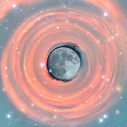 freetoedit moon fullmoon stars sparkles sky pinkclouds clouds tinyplaneteffect brushtool madewithpicsart