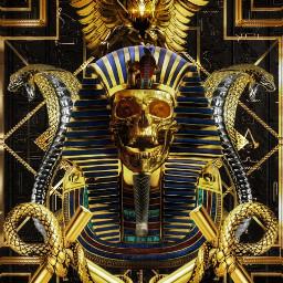 egypt skull gold egyptian