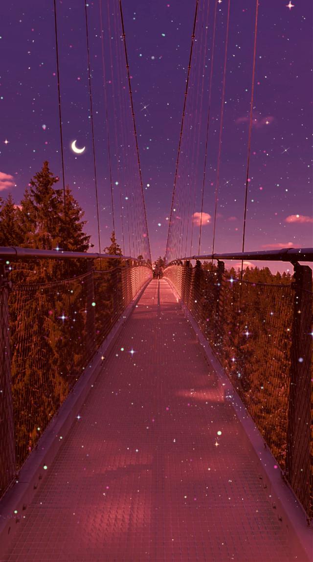#madewithpicsart #background #backgrounds #wallpaper #edit  #night #bridge #sky #aesthetic şahane fotoğraf için teşekkürler @rahil85 🙏♥️