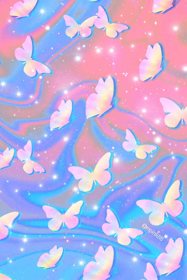 #freetoedit @mpink88 #glitter #sparkle #galaxy #butterfly #nature #cute #pastel #marble #swirl #pink #blue #stars #pattern #kawaii #holographic #spring #overlay #background #wallpaper