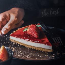 cheesecake best strawberry photography photo sweet yummy madebyme