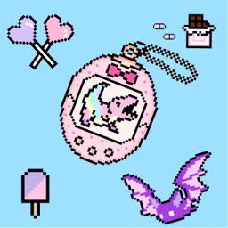 pixelarts pixel bat chocolate ice kawaii pastelgoth