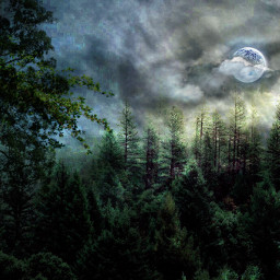 editedbyme readytoedit landscaperemix moonclouds landscape cloudsovermountains silhouette stickersedit moonlitnight forestbackground nightscenery moonlight cloudynight nighttimeaesthetic freetoedit