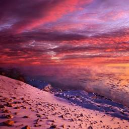 freetoedit remixit nature landscapephotography beauty pretty follow fanart peace happytaeminday popular popularpage winterwonderland winter sunrise sunset snow
