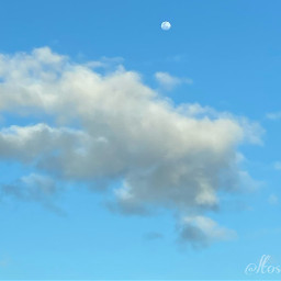 photography sky moon clouds bluesky nature picsart template background backgrounds wallpaper freetoedit