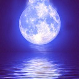 freetoedit bluemoon lamp fullmoon seaview