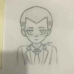 anime danganronpa danganronpa2 fuyuhikokuzuryuu fuyuhiko kuzuryuu drawing danganronpadrawing animedrawing