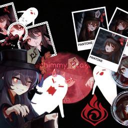 genshinimpact hutao 1.3 genshin impact hu tao new pyro fire element red black aesthetic moon gost rpg videogame otaku mihoyo mihoyogenshinimpact freetoedit 1