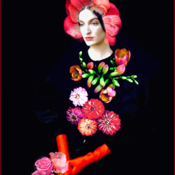 freetoedit floralwrap redflowers abstractportrait surreal natureart storybookart remixedbyme