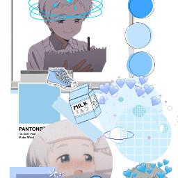 norman tpn thepromiseneverland anime collage blue japan freetoedit