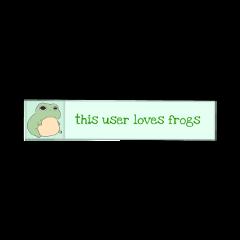 thisuserlovesfrogs frogs green sticker freetoedit