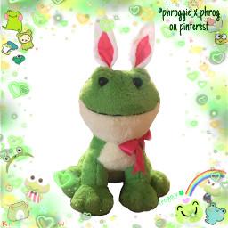 frog forg froggie froggy phrog phroggie phroggy phroggie_x_phrog pinterest bunny easter ted rabbit walmart plush plushie yay ohgodsomanyhashtags freetoedit