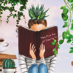 plants plantslover girl plantgirl books challenge freetoedit ircdesignthevase designthevase