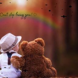 teddy baby rainbow bestfriends freetoedit rcdelicatedoodles