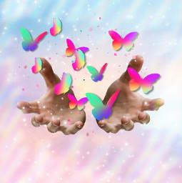 butterfly magie sky freetoedit