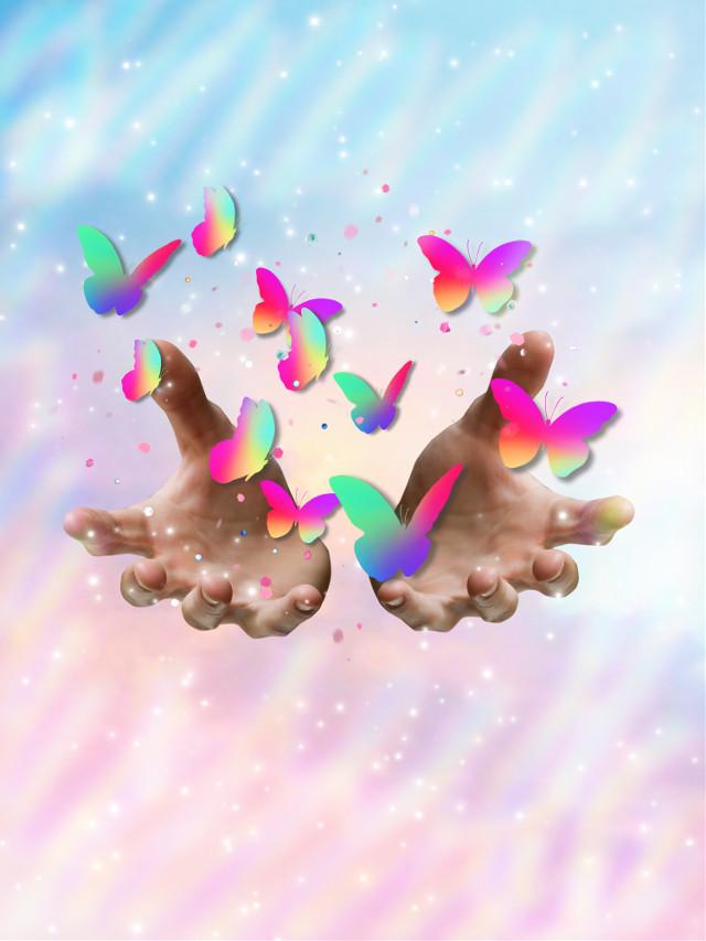 #butterfly#magie#sky