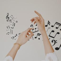 hand music musicnotes freetoedit ircbeautyofhands