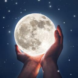 moon love neon nightsky stars freetoedit
