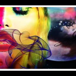 neinsun myart myshit interesting art digitalart surrealart artistic colorful neon girl smoke cigg make freetoedit