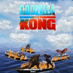 godzillavskong godzilla kingkong skullclawer warbat mechagodzilla freetoedit