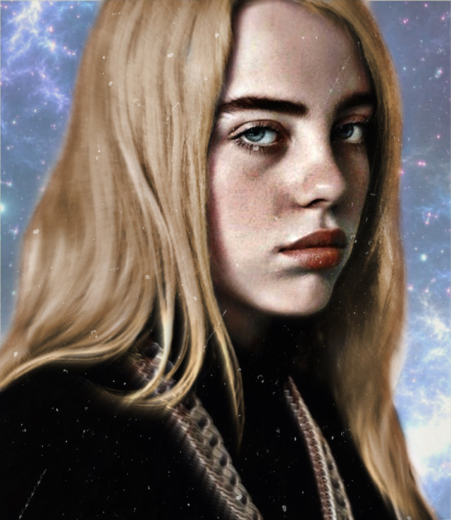#billieeilish #blonde #sky i just make billie hair turn into blonde😀❤️