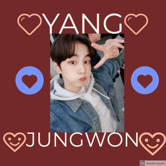 I made this with Adobe Spark on my computer  I had a picture of Jungwon and just added different things  It is harder than on my phone because I can't move or size the images to good But yiii  #jungwon  #enhypen  #enhypenjungwon  #sheep
