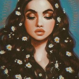 рисунок art idea chamomile ромашка flower flowers whait madinn rcchamomilesanddaisies chamomilesanddaisies freetoedit