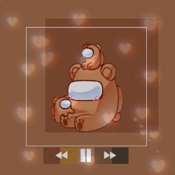 wallpaper wallpapers amongus among_us background backgrounds brown bear brownbear amongus_wallpaper play music freetoedit