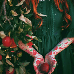 freetoedit red aesthetic redaesthetic apple srcreddeliciousapples