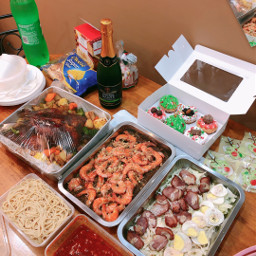 party gathering food