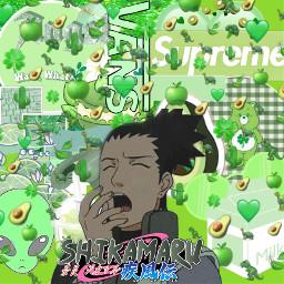 shikamarunara green naruto shikamaru vert freetoedit