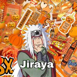 jirayasensei jiraya naruto orange freetoedit