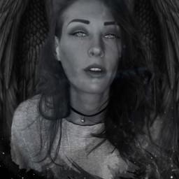 evilgirl darkness angel angelsofdeath angelwings darkside darkangel darkaesthetic darkbeauty portrait selfie edit replay freetoedit