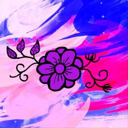 freetoedit background flower purple multicolor colorful pink blue pastel prettybackground freetouse good black blackandpurple tookanhour firsttimedoingthis