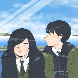 drawing girl freetoedit train